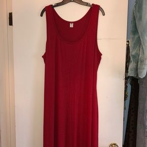 NEW Old Navy red maxi dress